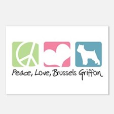 Peace, Love, Brussels Griffon Postcards (Package o