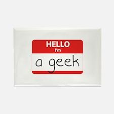 Hello, I'm a Geek Rectangle Magnet
