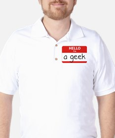 Hello, I'm a Geek Golf Shirt