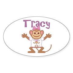 Little Monkey Tracy Sticker (Oval)