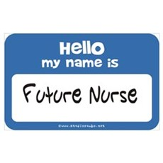 Future Nurse Name Tag Poster