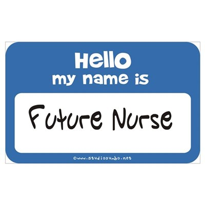 Future Nurse Name Tag Canvas Art