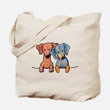 Pocket Doxie Duo Tote Bag