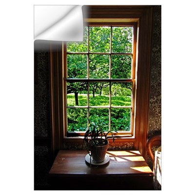 Colonial Cottage Window Wall Decal