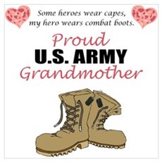 Proud US Army Grandmother Poster