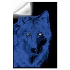 Wolf Face-Blue Wall Decal