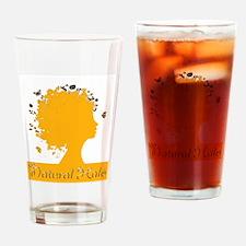 Unique Black hair Drinking Glass