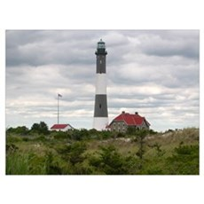 Robert Moses State Park Long Island NY Lighthouse Framed Print