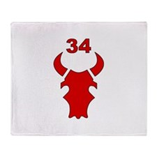 34th Infantry Division (3) Throw Blanket