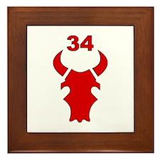 34th Infantry Division (3) Framed Tile