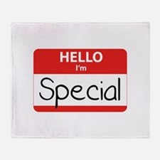 Hello, I'm Special Throw Blanket
