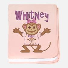 Little Monkey Whitney baby blanket