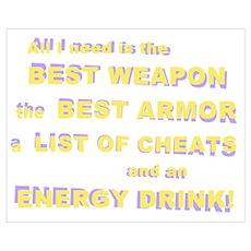 Energy Drink4 Gamer Poster