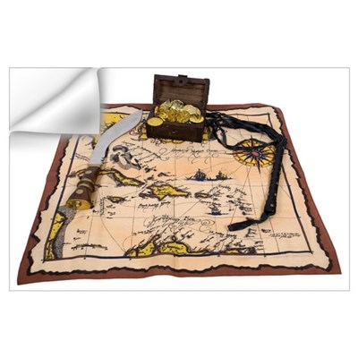 Pirate Map Treasure Wall Decal