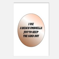 Funny Beach umbrella Postcards (Package of 8)