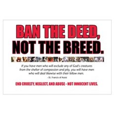 Ban the Deed Framed Print