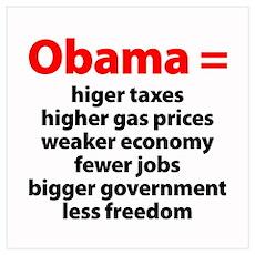 Obama Equals Poster