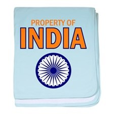 Property of India baby blanket