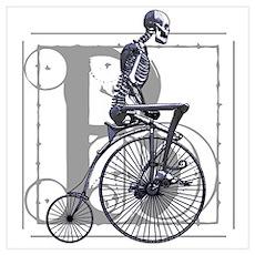 BICYCLE SKELETON Poster