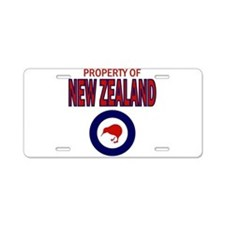 Property of New Zealand Aluminum License Plate