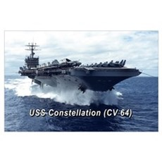USS Constellation (CV 64) 17X11 Un Poster