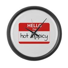 Hello, I'm Hot & Spicy Large Wall Clock