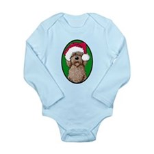 Santa Chocolate Doodle Long Sleeve Infant Bodysuit