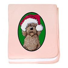 Santa Chocolate Doodle baby blanket