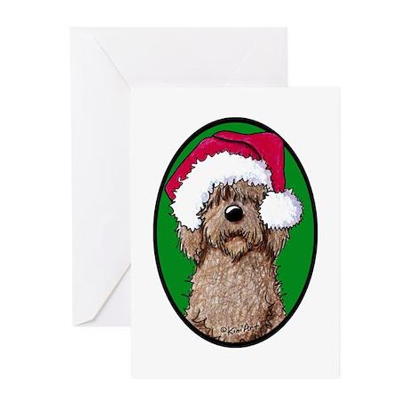 Santa Chocolate Doodle Greeting Cards (Pk of 20)