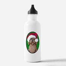 Santa Chocolate Doodle Water Bottle