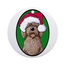 Santa Chocolate Doodle Ornament (Round)