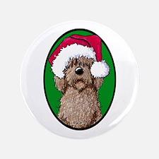"Santa Chocolate Doodle 3.5"" Button"