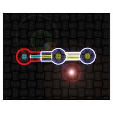 Nitrous-Oxide molecule Poster