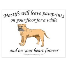 Mastif Pawprints Poster