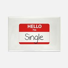Hello I'm Single Rectangle Magnet