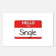 Hello I'm Single Postcards (Package of 8)