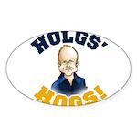 Hols' Hogs! Sticker (Oval)