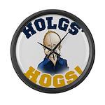Hols' Hogs! Large Wall Clock