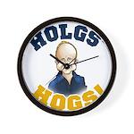 Hols' Hogs! Wall Clock
