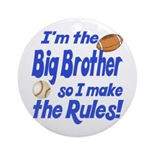Big Brother Rules Ornament (Round)
