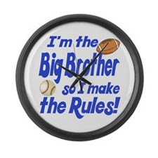 Big Brother Rules Large Wall Clock