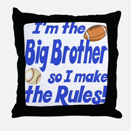 Big Brother Rules Throw Pillow