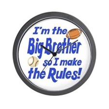 Big Brother Rules Wall Clock