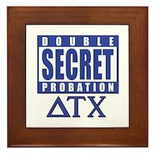 Delta House Double Secret Probation Framed Tile