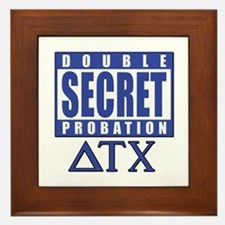Delta House Double Secret Probation Framed Tile