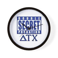 Delta House Double Secret Probation Wall Clock