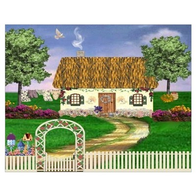 Country Cottage Un Poster