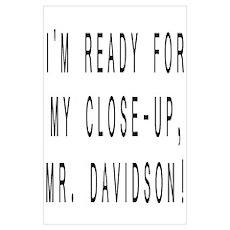 Mr. Davidson Poster