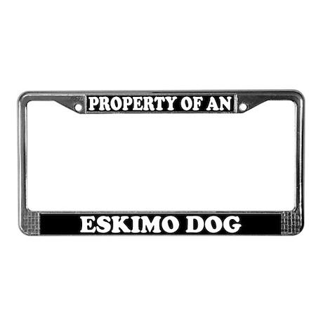 Property Of An Eskimo Dog License Plate Frame