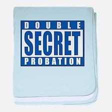 Double Secret Probation Animal House baby blanket
